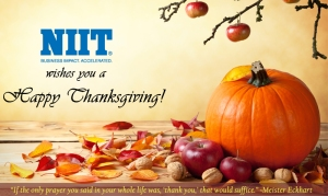 NIIT wishes everyone a very Happy Thanksgiving!
